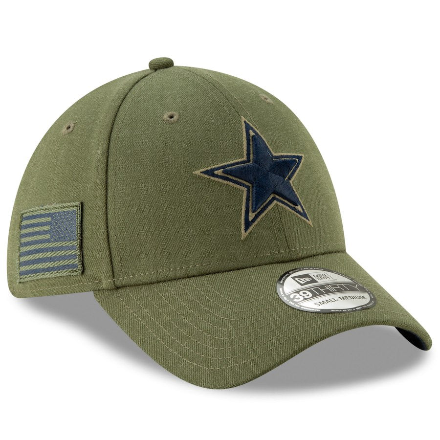 New Era NFL Dallas Cowboys 2018 Salute To Service Sideline 39THIRTY Flex Hat