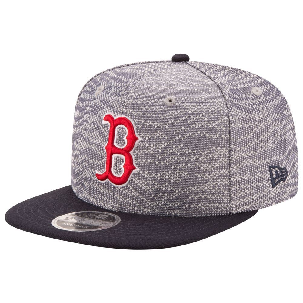 New Era MLB Men's Boston Red Sox Weave Mix 9FIFTY Adjustable Snapback Hat
