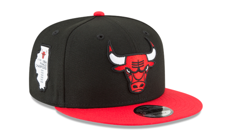 c28e6429d16 New Era NBA Men s Chicago Bulls Side Stated 9FIFTY Adjustable Snapback Hat