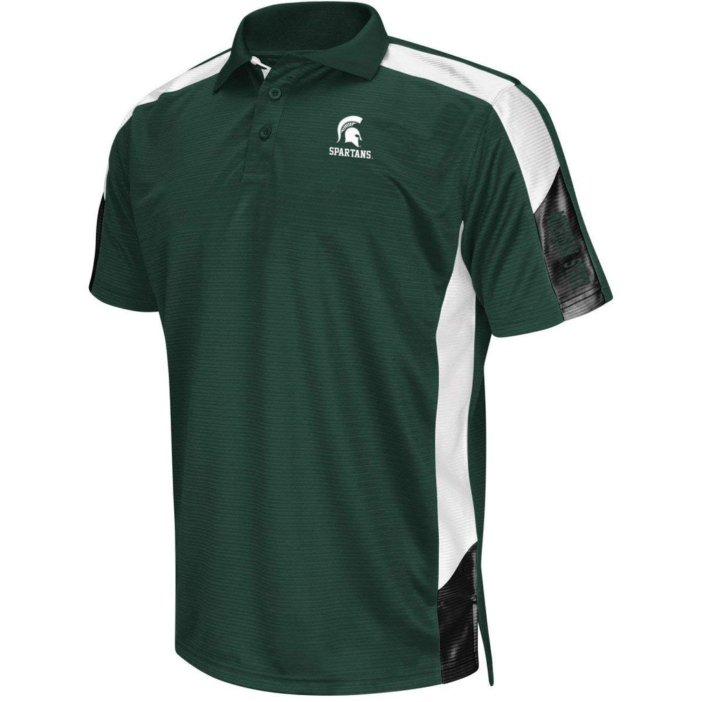 Chiliwear NCAA Men's Michigan State Spartans Bracket Polo