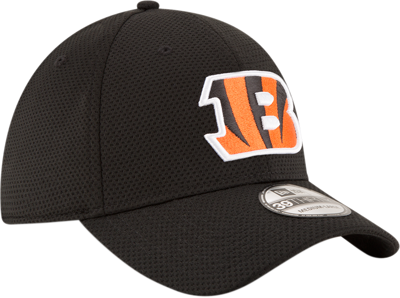 New Era NFL Men's Cincinnati Bengals Sideline Tech 39THIRTY Flex Hat