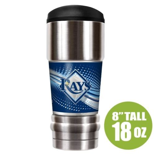 Great American Products MLB Tampa Bay Rays The MVP Insulated Tumbler Stainless Steel 18oz