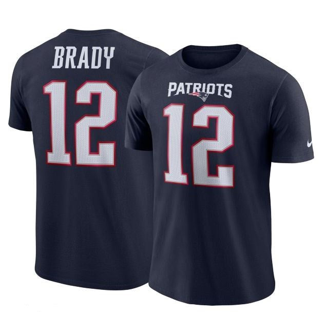 Nike NFL Men's #12 Tom Brady New England Patriots Player Pride Name & Number Performance T-Shirt