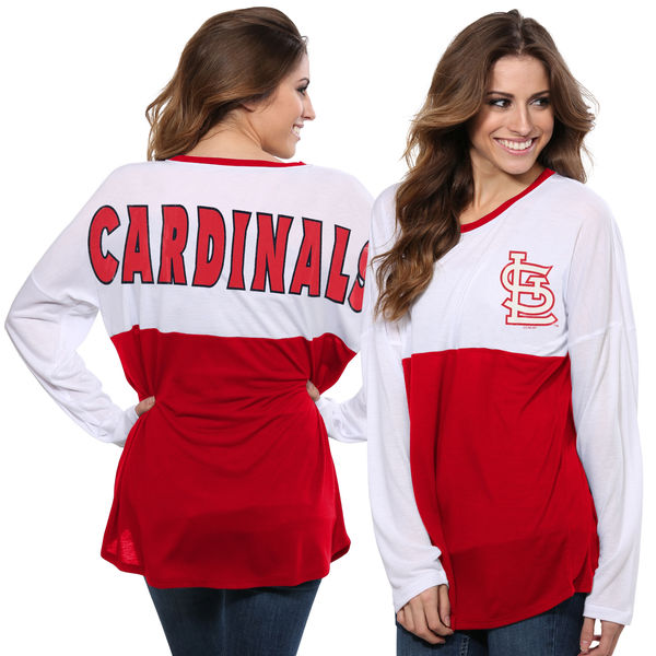 Concepts Sport MLB Women's St. Louis Cardinals Comeback Long Sleeve Top
