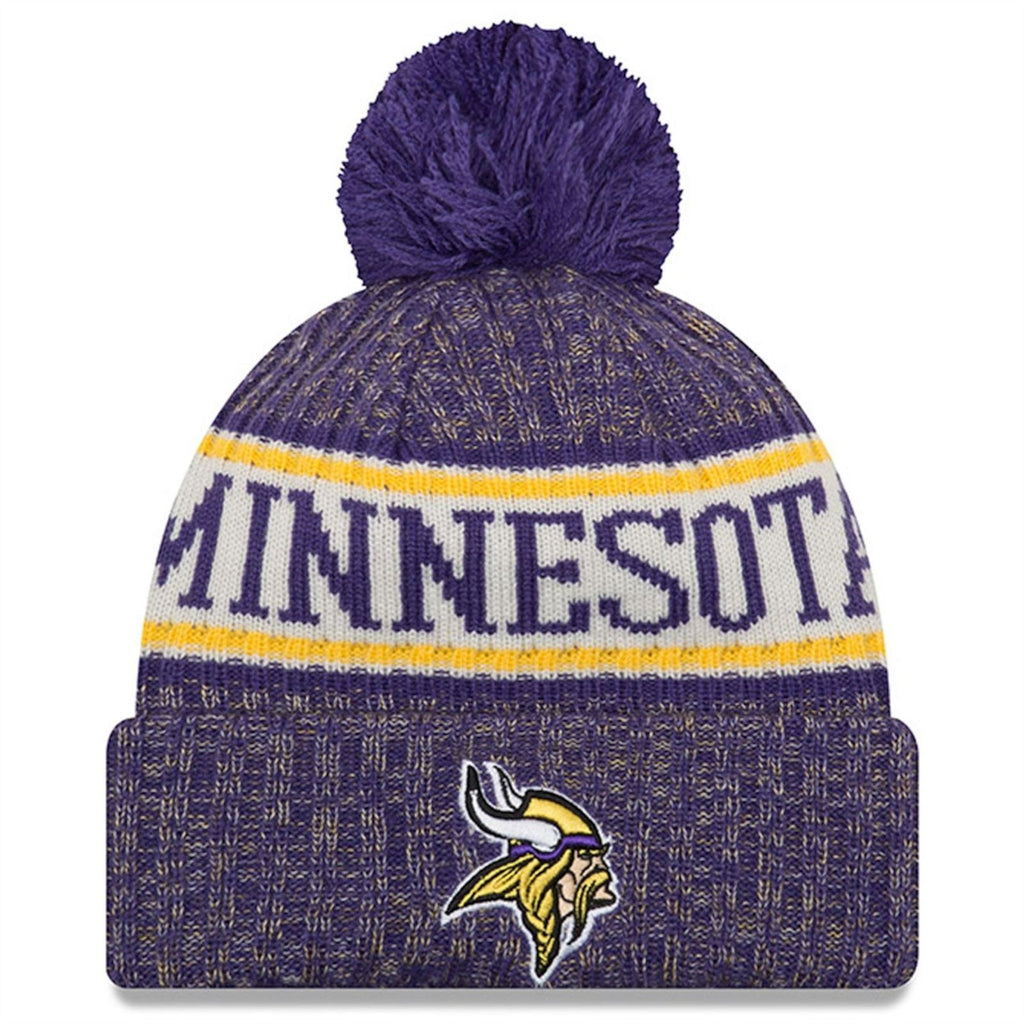 New Era NFL Minnesota Vikings Sideline Cold Weather Official Sport Knit Hat