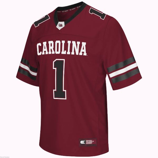 Colosseum NCAA Men's South Carolina Gamecocks Spike It Football Jersey