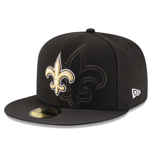 New era Men's New Orleans Saints 2016 Official Sideline 59FIFTY Fitted Hat