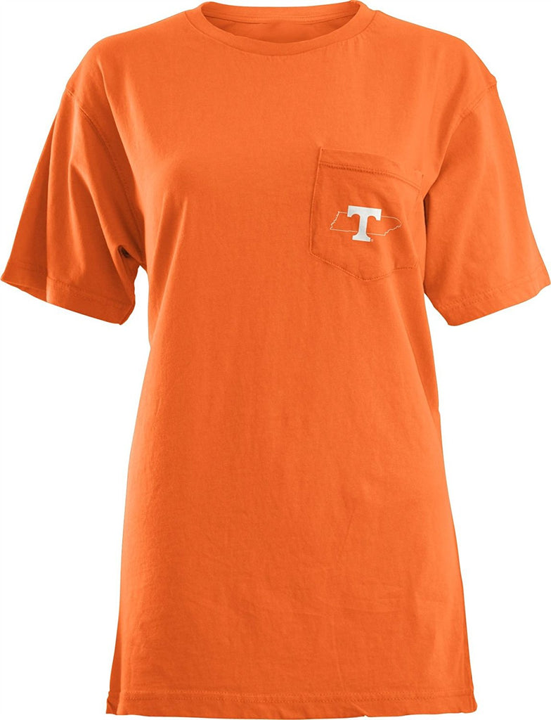 Pressbox NCAA Women's Tennessee Volunteers Elly May Pocket T-Shirt