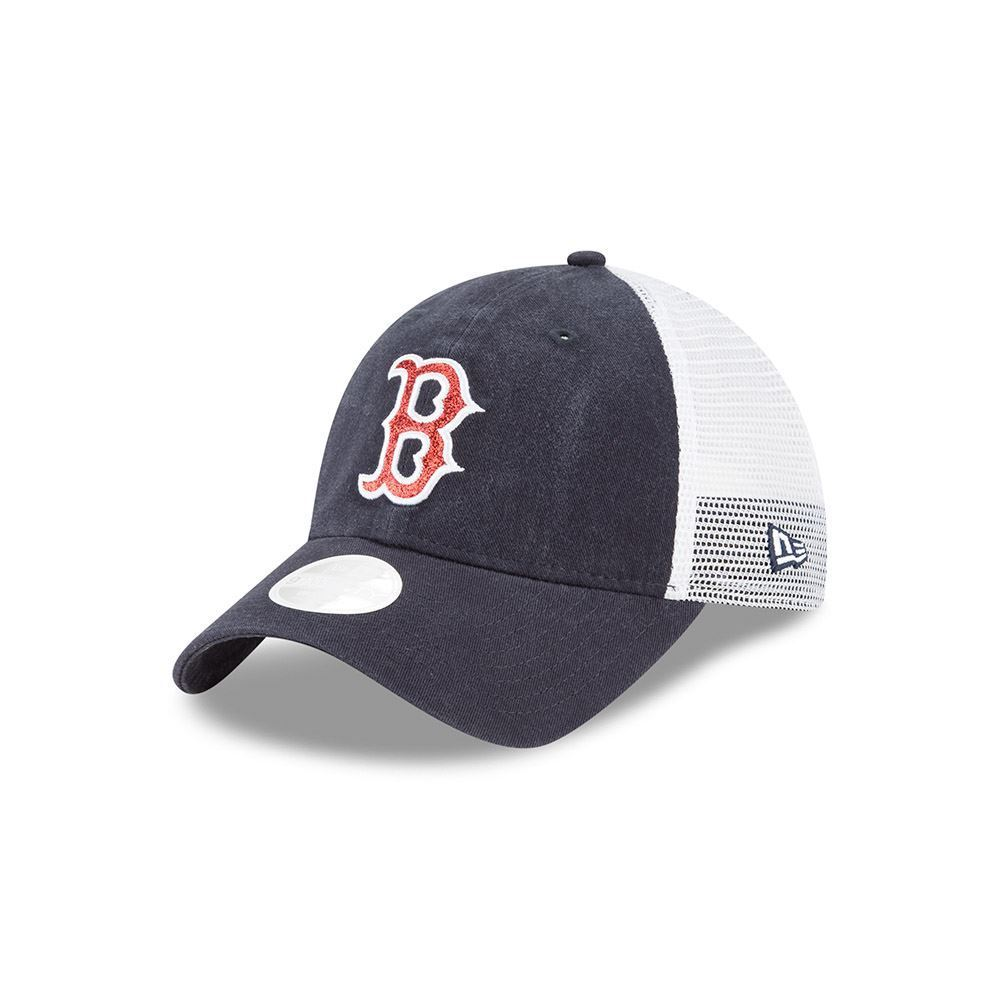 3fe742cb451 ... reduced new era mlb womens boston red sox trucker shine 9twenty  adjustable hat 854e0 09c2d