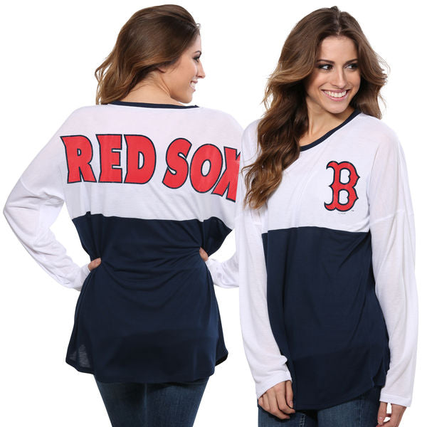 Concepts Sport MLB Women's Boston Red Sox Comeback Long Sleeve Top