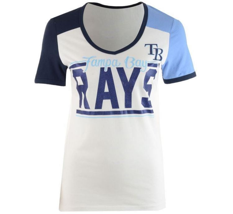 5th & Ocean MLB Women's Tampa Bay Rays Space Dye T-Shirt