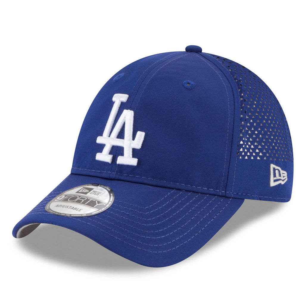 New Era MLB Men's Los Angeles Dodgers Perforated Pivot 9FORTY Adjustable Hat