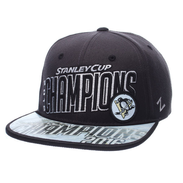 Zephyr NHL Men's Pittsburgh Penguins 2016 NHL Stanley Cup Champions Adjustable Snapback Hat