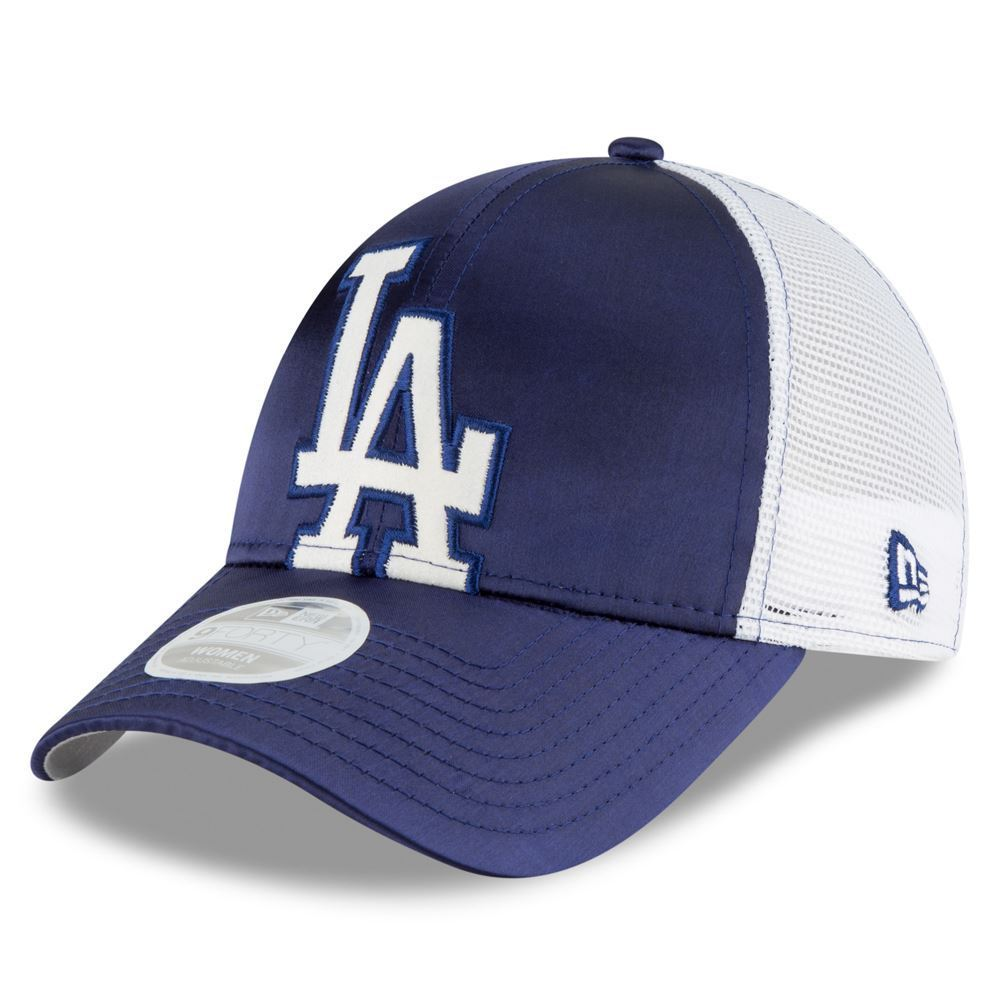 New Era MLB Women's Los Angeles Dodgers Satin Chic 2 9FORTY Adjustable Hat