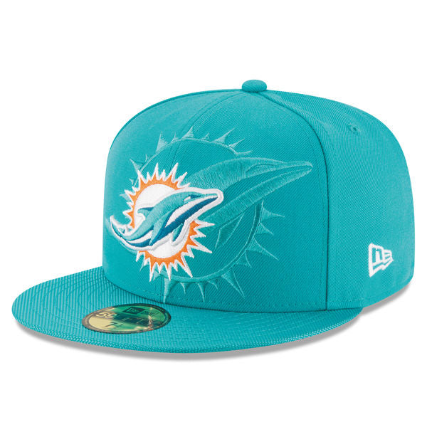 New Era Men's Miami Dolphins 2016 Official Sideline 59FIFTY Fitted Hat