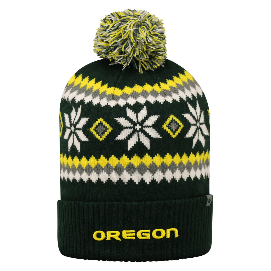 Top Of The World NCAA Men's Oregon Ducks Fogbow Knit Beanie