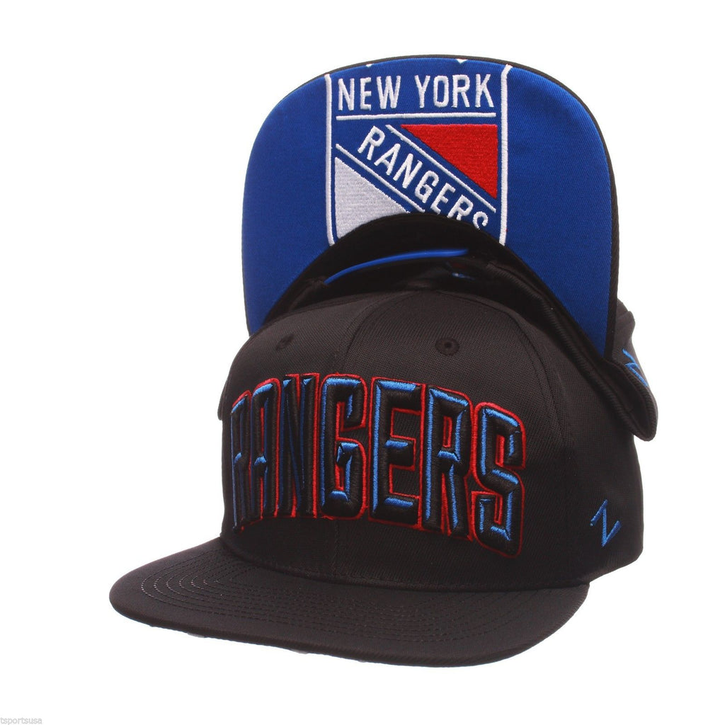 Zephyr NHL Men's New York Rangers Villain Snapback Adjustable Hat