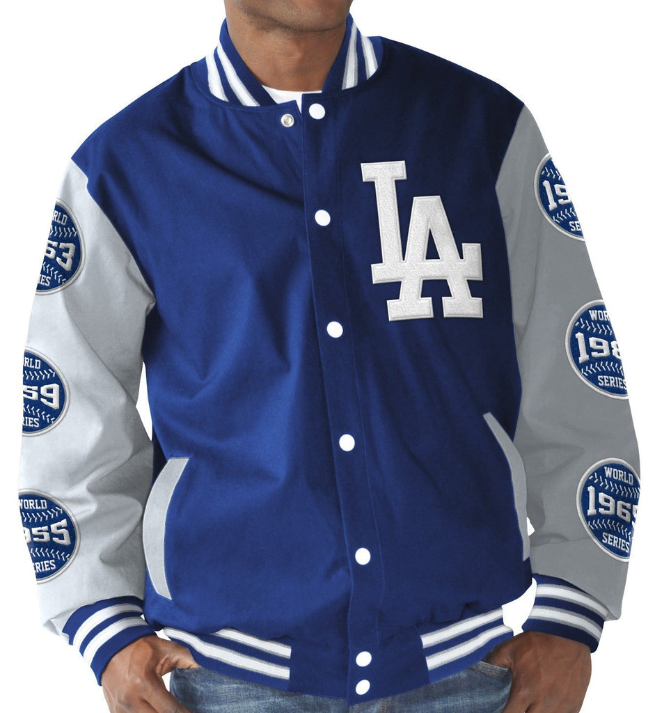 G-III MLB Los Angeles Dodgers Cotton Canvas World Series Champions Commemorative Jacket