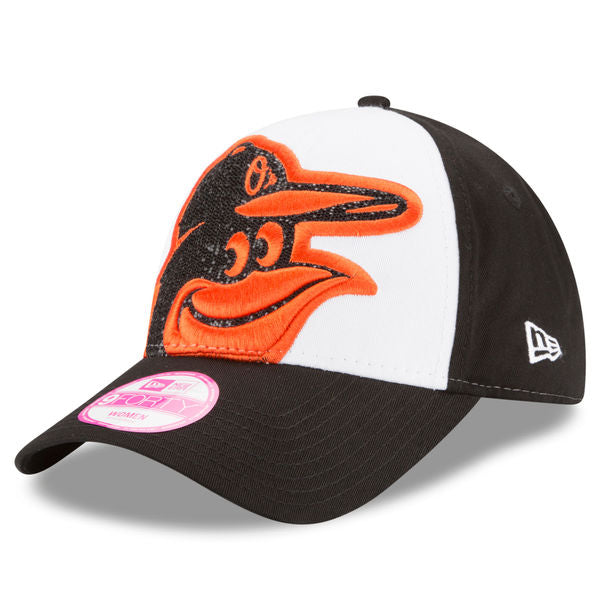 New Era MLB Women's Baltimore Orioles Glitter Glam 2 9Forty Adjustable Cap