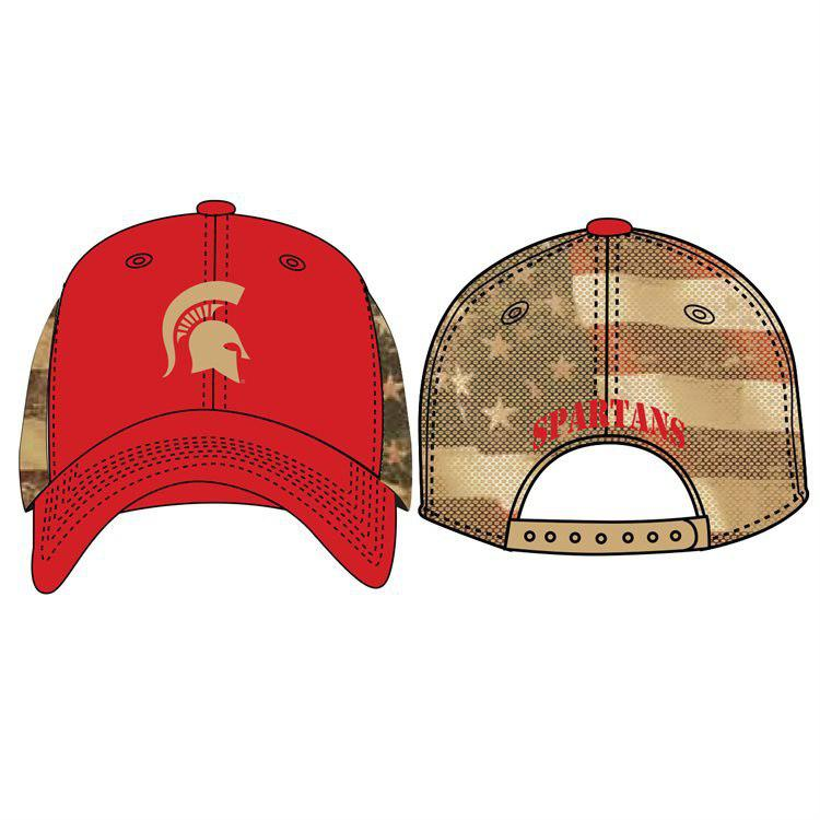 big sale d1b85 a7775 Top of The World NCAA Michigan State Spartans Flagtacular Mesh Hat