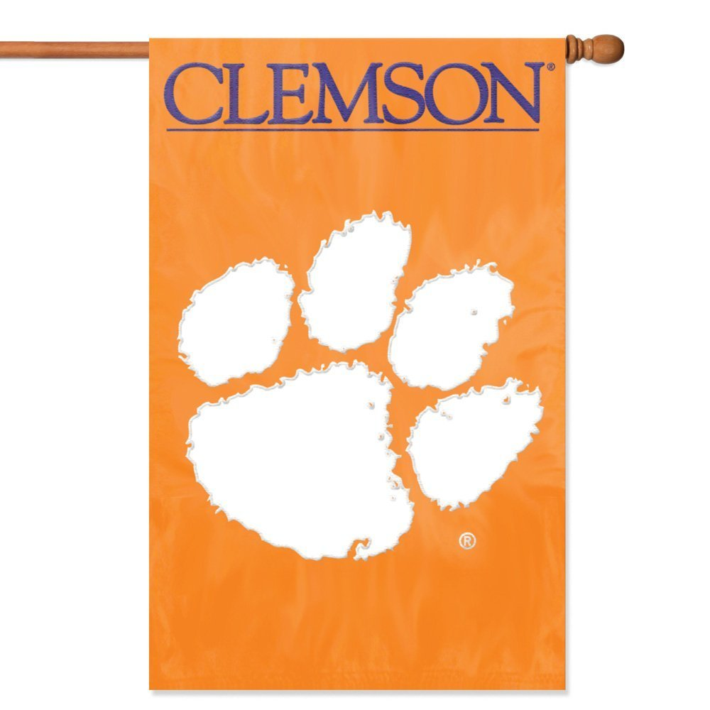 "Party Animal NCAA Clemson Tigers 28"" x 44"" House Banner Flag"