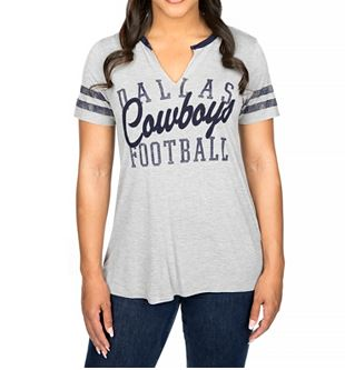 DCM NFL Women's Dallas Cowboys Bennett Slit T-Shirt