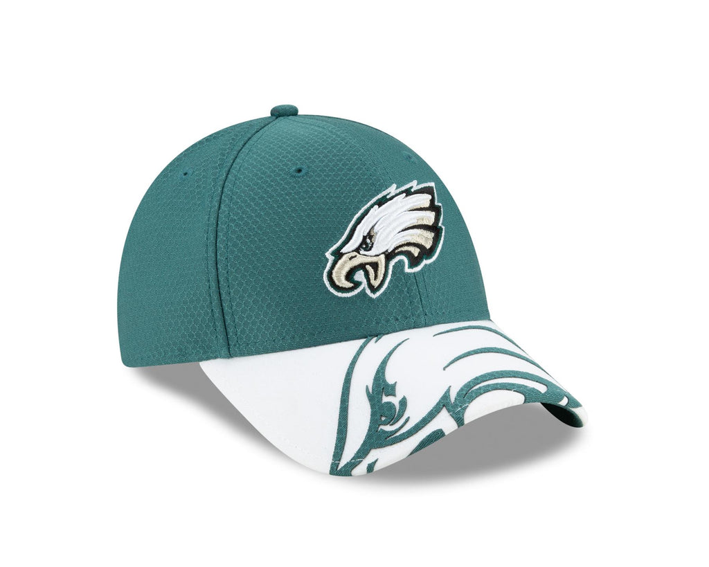 New Era NFL Men's Philadelphia Eagles Logo Crop 9FORTY Adjustable Hat One Size