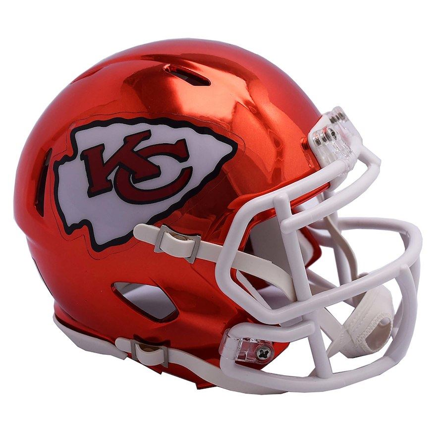 Riddell NFL Kansas City Chiefs Alternate Speed Chrome Mini Helmet  Chrome Red