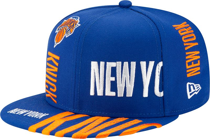 New Era Men's New York Knicks Tipoff Series 9FIFTY Adjustable Snapback Hat Blue One Size