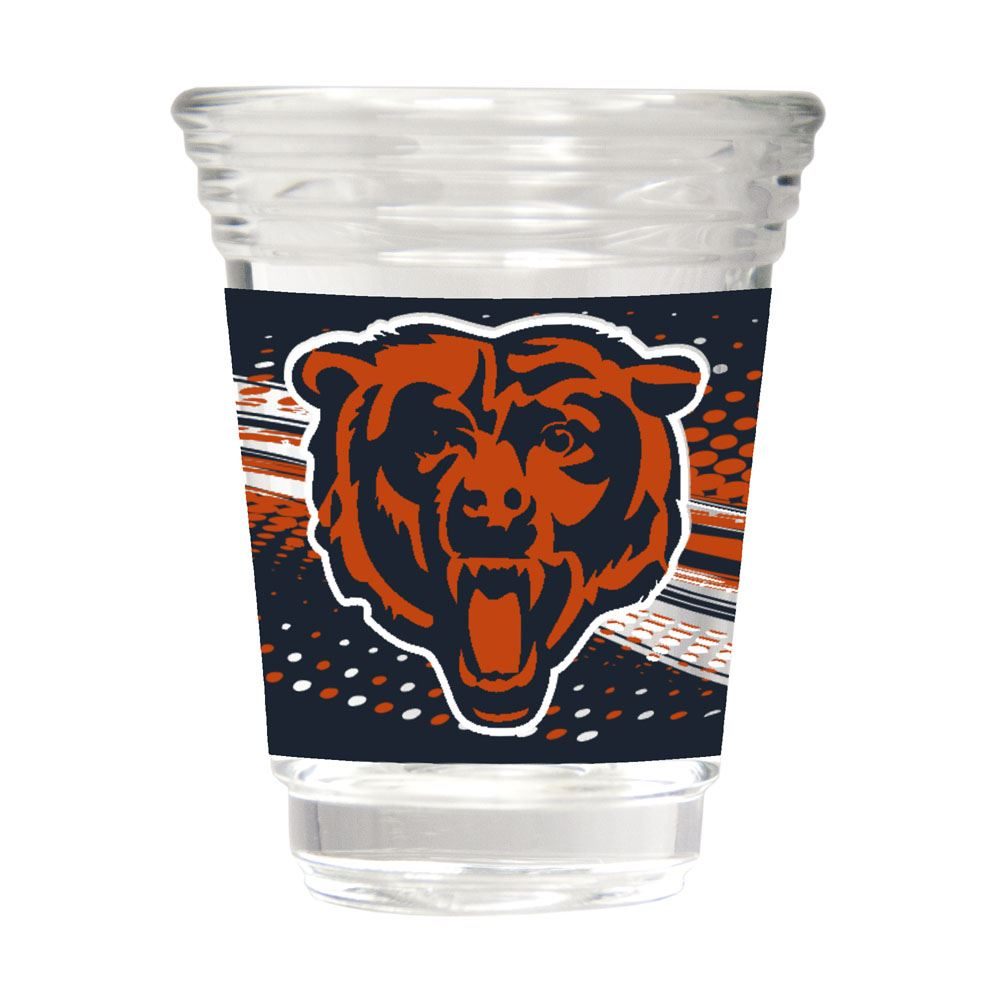 Great American Products NFL Chicago Bears Party Shot Glass w/Metallic Graphics 2oz.