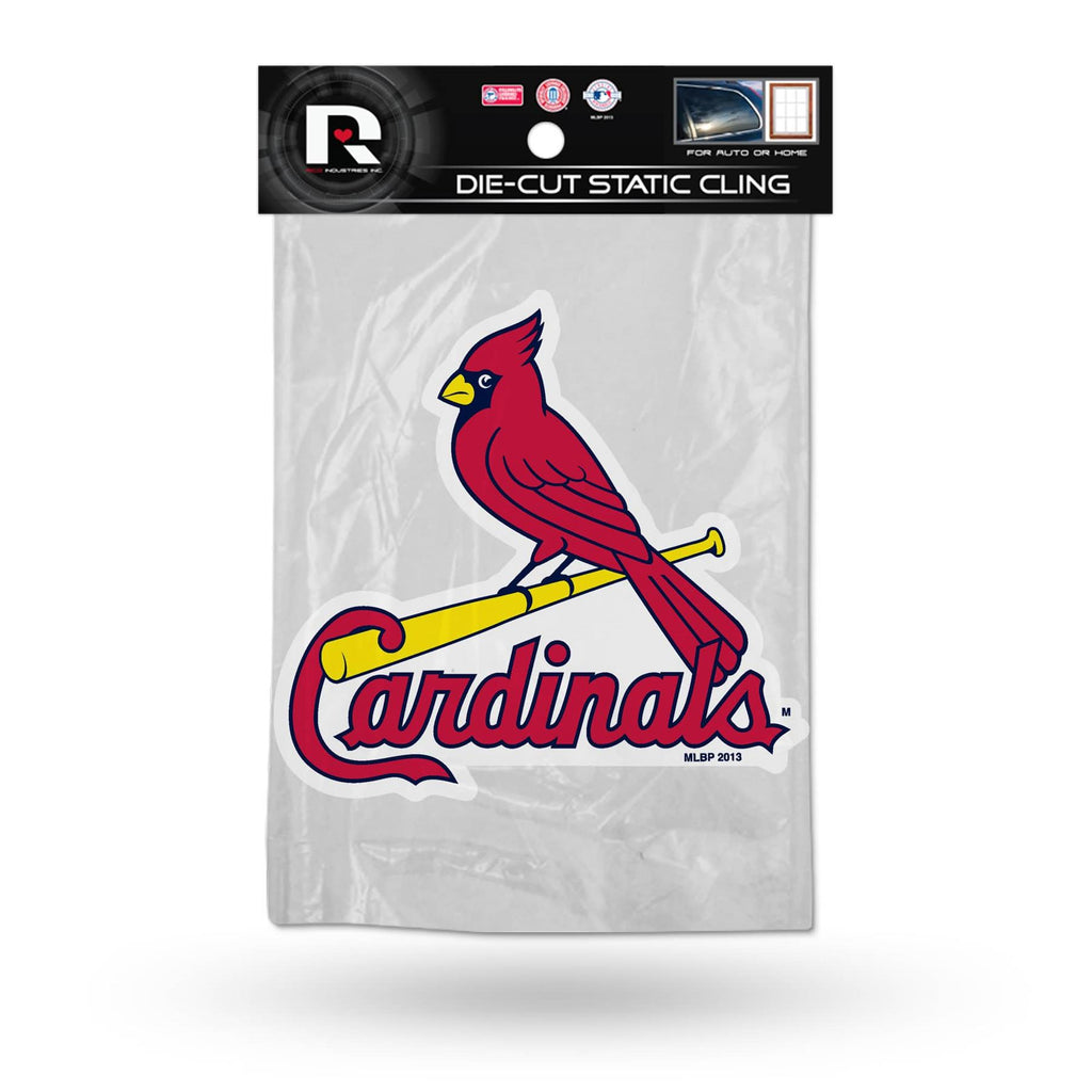 Rico MLB St. Louis Cardinals Shape Cut Static Cling Auto Decal Car Sticker Medium SSCM