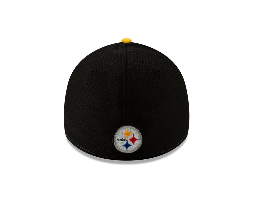 New Era NFL Men's Pittsburgh Steelers Panel 39THIRTY Hat Black