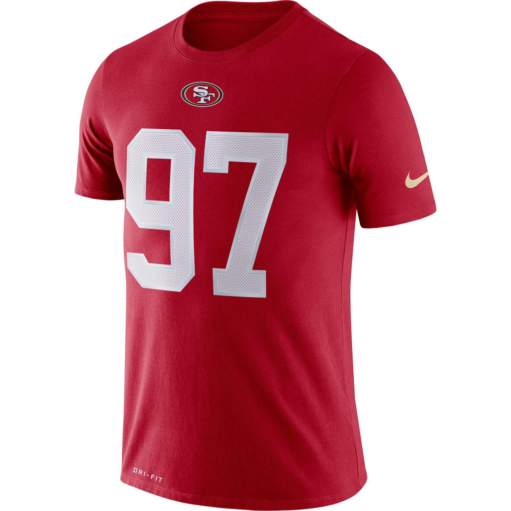 Nike NFL Men's #97 Nick Bosa San Francisco 49ers Player Pride 3.0 Name & Number Performance T-Shirt