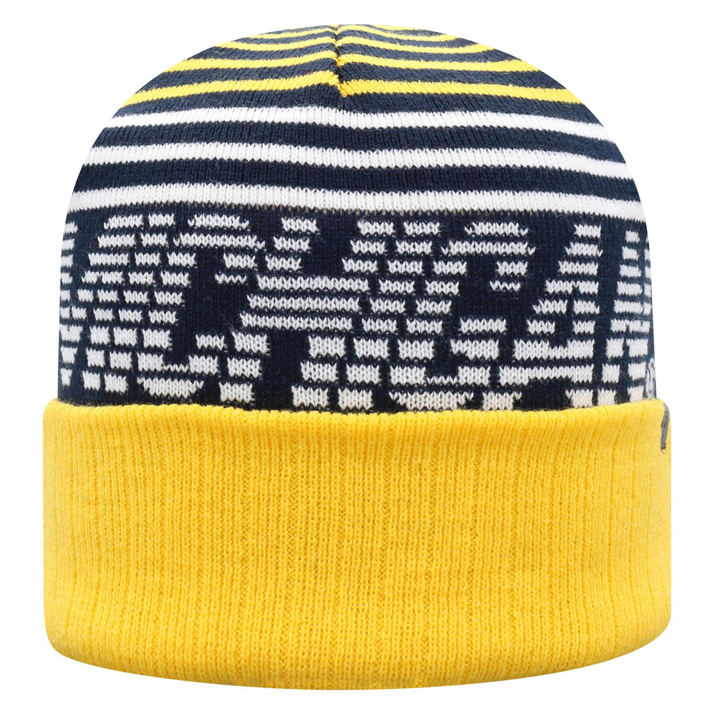 Top Of The World NCAA Men's Michigan Wolverines Array Cuff Knit Beanie