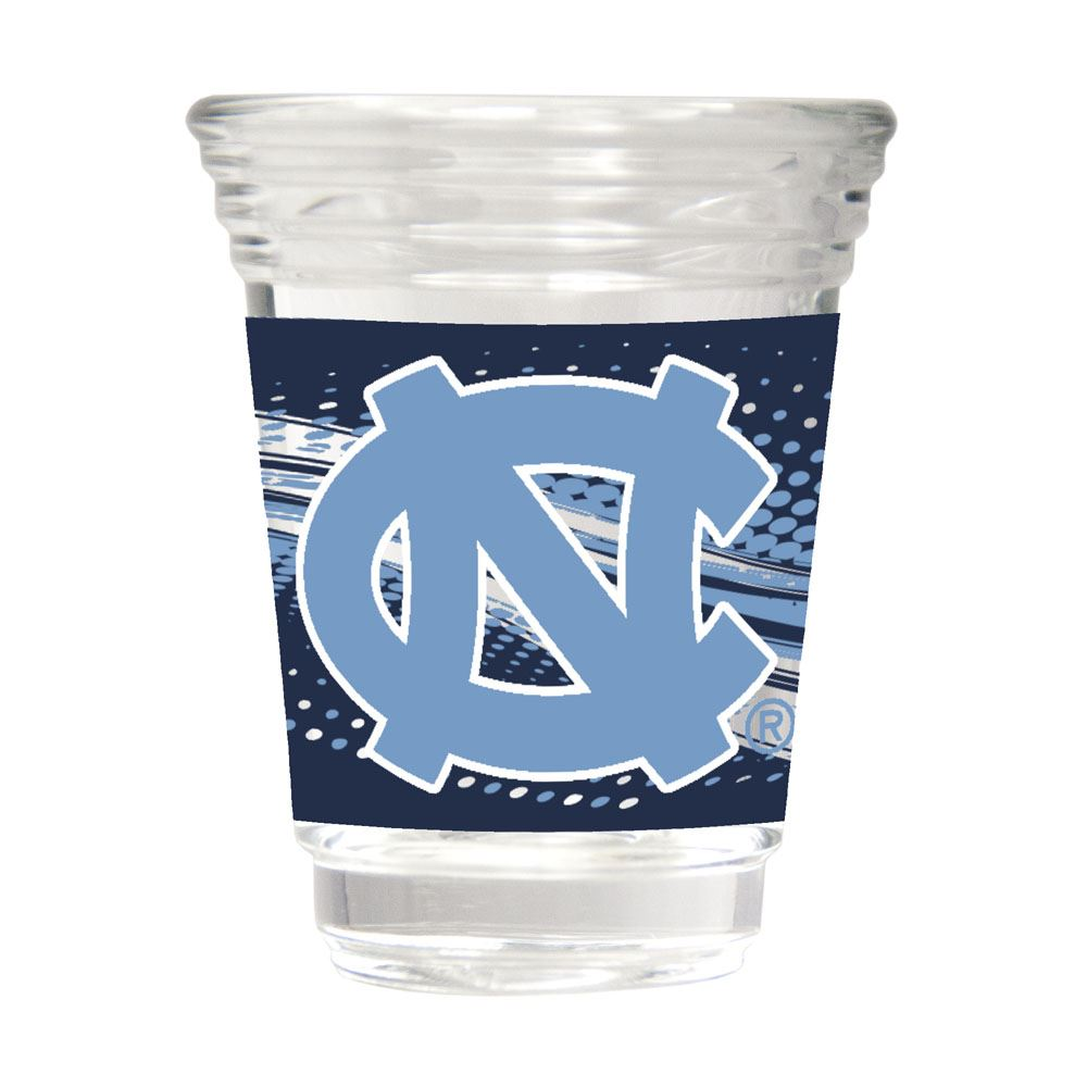 Great American Products NCAA North Carolina Tar Heels Party Shot Glass w/Metallic Graphics 2oz.