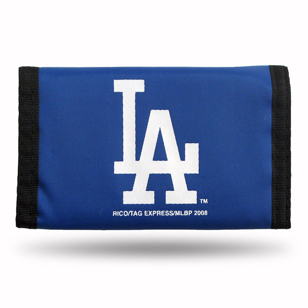 Rico MLB Los Angeles Dodgers Nylon Trifold Wallet