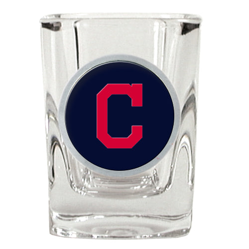 "Copy of Great American Products MLB Cleveland Indians Metal ""C"" Emblem Square Shot Glass 2oz"