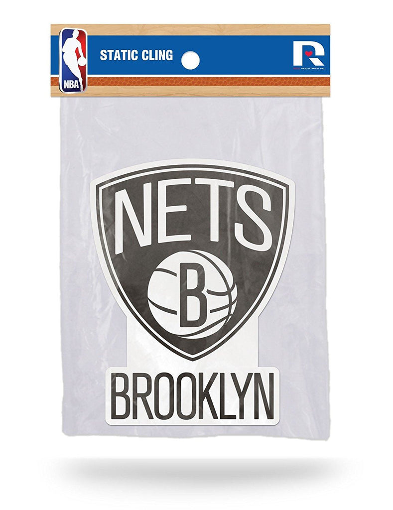 Rico NBA Brooklyn Nets Shape Cut Static Cling Auto Decal Car Sticker Medium SSCM