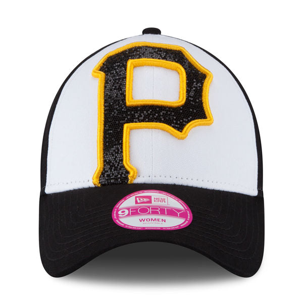 New Era MLB Women's Pittsburgh Pirates Glitter Glam 2 9Forty Adjustable Cap