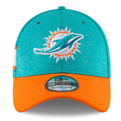 New Era NFL Men's Miami Dolphins 2018 Sideline Official 39Thirty Flex Hat