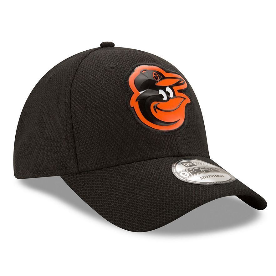 New Era MLB Men's Baltimore Orioles Bevel Team Adjustable Hat