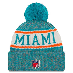 New Era NFL Miami Dolphins Sideline Cold Weather Official Sport Knit Hat