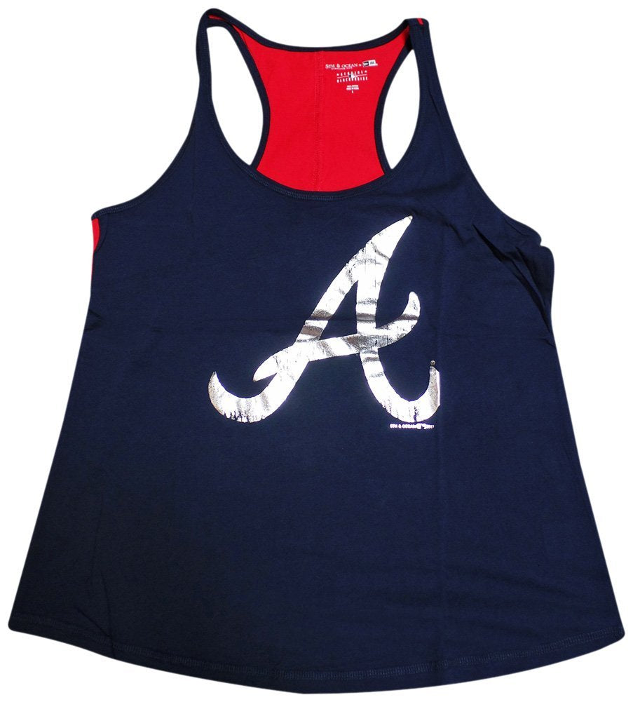 5th & Ocean MLB Women's Atlanta Braves Foil Tank Top