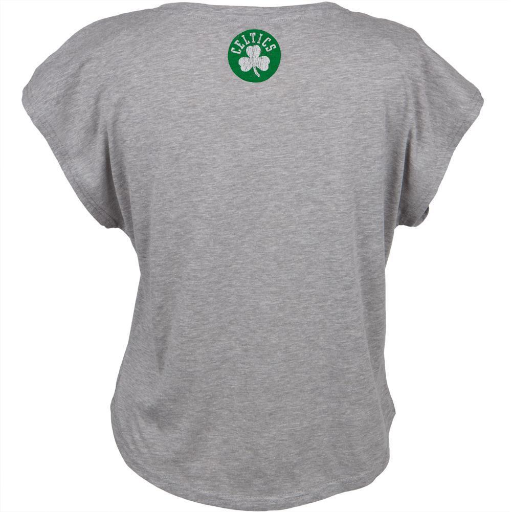 UNK NBA Women's Boston Celtics Finger Rolled Cropped T-Shirt