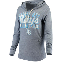 5th & Ocean MLB Women's Tampa Bay Rays Jersey Tri-blend Pullover Hoodie