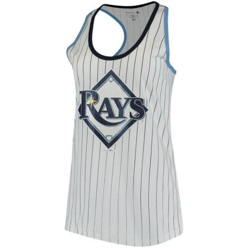 5th & Ocean MLB Women's Tampa Bay Rays Pinstripe Racerback Tank Top