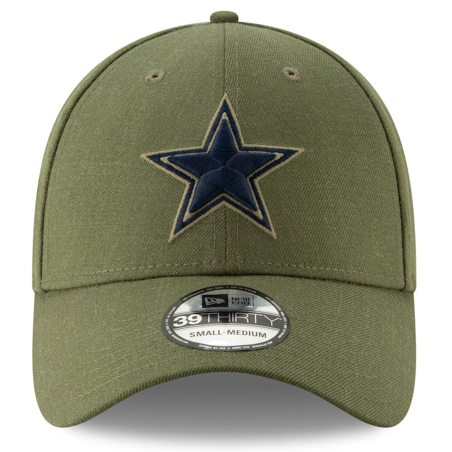 867122291b0 ... New Era NFL Dallas Cowboys 2018 Salute To Service Sideline 39THIRTY Flex  Hat ...