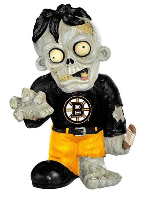 Forever Collectibles NHL Boston Bruins Resin Zombie Figurine 8.5-Inch