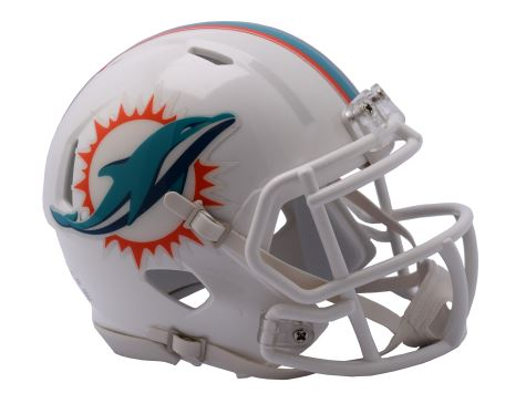 Riddell NFL Miami Dolphins Speed Mini Helmet White
