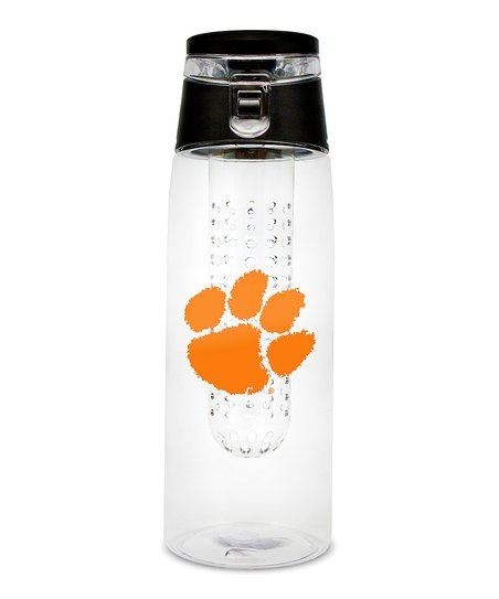 Duck House NCAA Clemson Tigers Infuser Clear Bottle 20 oz